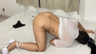 homemade amateur porn breaking into the ass of this beautiful brazilian milf in wild sex