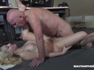 Old Cock in Tight Pussy Hole