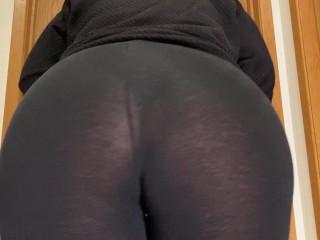 Black sheer leggings booty...