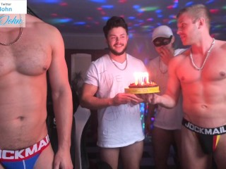 Real birthday party way with open holes and...