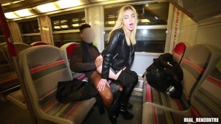 Young Spanish Tourist Paola Hard Fucked In Public Train And Hotel Hallway By 2 Black Strangers