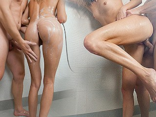 Amateur Couple Hot Sex in the Shower - Little Berryy