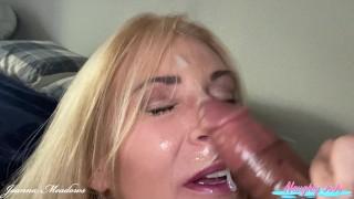 Cumwalk MILF Joanna Meadows - NaughyJoJo - Black Cock Blowjob Facial - Cumwhore Spermwalk - Jizzed