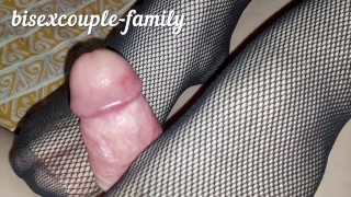 Caught my husband jerking off to gay porn and fucked us with a Double Ended Dildo