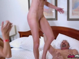 MILFS Sofie Marie And Holly Hotwife Fucking In Threesome
