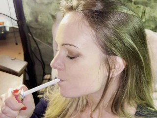 Pipe fétichisme et cigarette