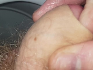 Wet foreskin play uncut hot smegma dick cheese...