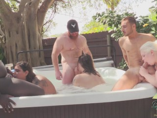 College party hot tub orgy ends in pregnancy...
