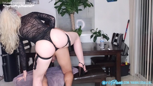 Mistress Haighlee is Back ! Pegging Locked Pet With Strapon - Male Chastity - OurDirtyLilSecret