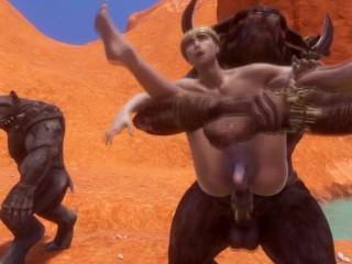 Meets two alpha minotaurs 3d...