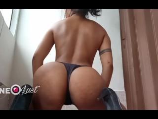 Brazilian butt twerking in only panties...