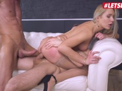 HerLimit - Angelika Grays Ukrainian Asshole Stretched By Rough Double Penetration