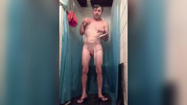 SHOWERING WITH AN ANAL HOOK IN MY BUTT 11