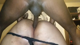 NativeBBW takes full load on her huge ass after being probed