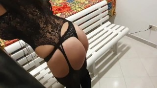LISA is Latin girl with sexy lingerie that don't stop to fuck, he used her for rough sex