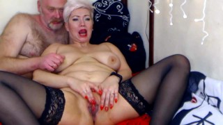 I pull my mature bitch by the nipples & she gratefully sucks my cock, You deserve a fuck in the ass!