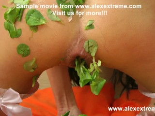 Hotkinkyjo put in ass mixed vegetables & anal prolapse