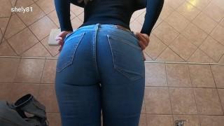 sexy milf wearing jeans -try on haul