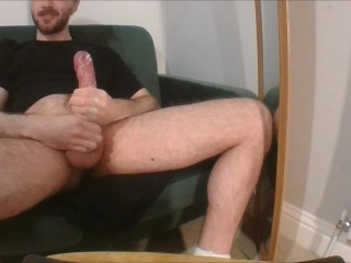 7+ mins of squelchy/creamy big cock wanking (w/ verbal & double cumshot)