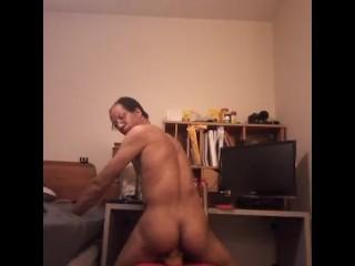 Butt riding dildo...