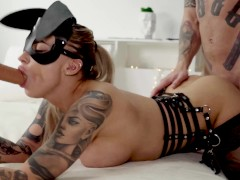 horny easter bunny gets 2 dicks at once - so1arkate