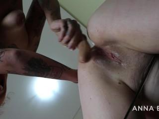 TATTOOED LATINA FUCKING HARD RUSSIAN GIRL with a big dildo – with ANNA BLUE and NINA FORBIDDEN