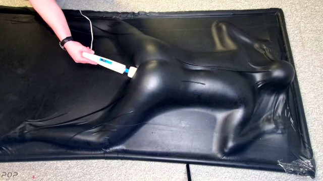Face Down & Ass Up in a Vacbed - Sexy sub girl gets impact play then cums in a latex Vacbed 18