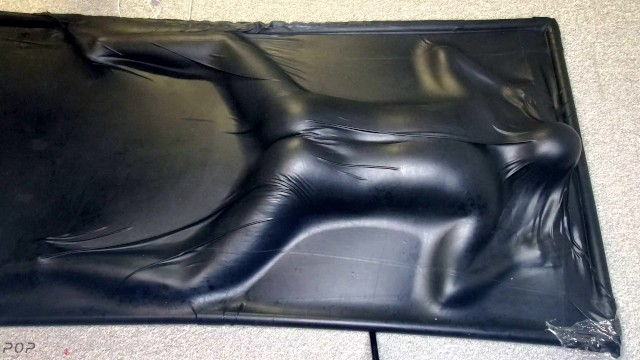 Face Down & Ass Up in a Vacbed - Sexy sub girl gets impact play then cums in a latex Vacbed 36