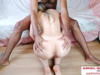 upside down black fat cock destroyed my white asshole