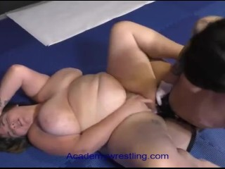 academywrestling Beautiful BBW wrestles gets dominated and fucked