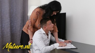 Studying Stepson Gets Seduced By His Horny Step mom