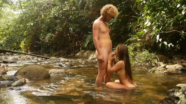 Hot amazon girl seduces adventurer in the deep jungle and gets fucked wildly 18