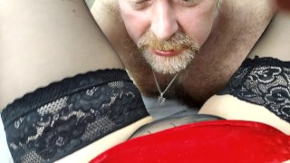 Hard massage of G-spot, wild rubbing of clit, sucking strong dick & other games of a mature couple