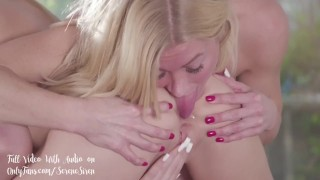 Scarlett Sage Gets Her Ass & Pussy Licked! Full Threesome Video with Audio on OF/SereneSiren