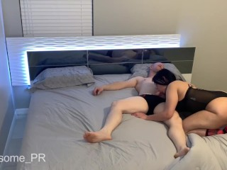 My stepdaughter wakes me up after party and ended cum in her big ass