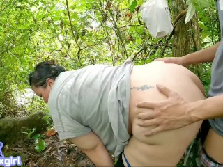 Sofia Thai Sex in forest waterfall