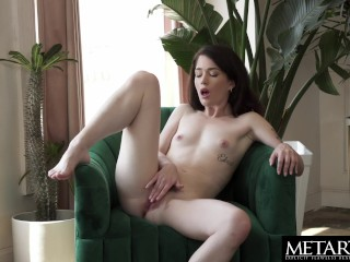 Raven-haired beauty wants you to watch as she masturbates avidly