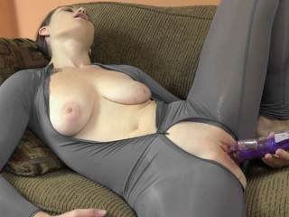 ChickPass - Young slut Anastasia Rose plays in her sheer catsuit