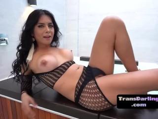Bigtit lingerie trap barebacked after teasing