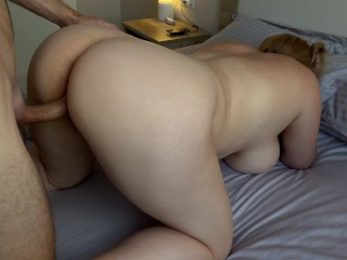 Ass blonde chick gets doggystyle fucked...