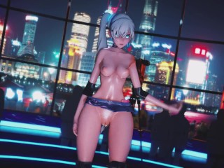 Mmd r18 rwby Weiss Schnee Workout see her sweaty ass and boobs