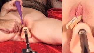 Edging and freezing the pussy multiple times before climax - then i let her cum twice