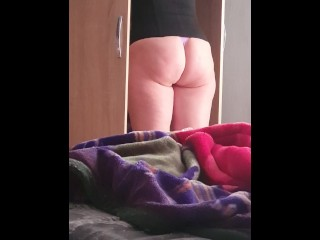 Step mom Twerking and Shaking Ass asking fucking step son until Cum on Brazilian ass