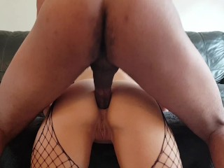 Teen Step Sister wanted my big black cock in her tight ass