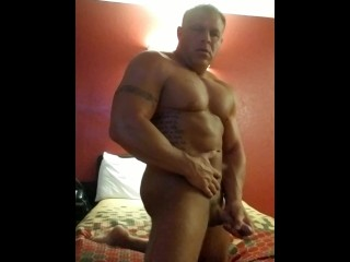 Horny Fit Guy Jerking His Big Dick and Cums With You