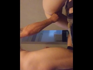 Pussy pounding with dildo