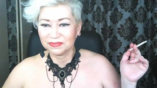 Solo games of gorgeous Russian MILF AimeeParadise: dirty dances, dildo show, closeup mature pussy