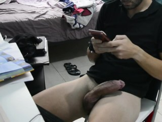 Beautiful boy masturbing himself with video by stepsister...