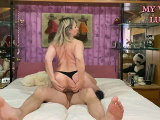 Best wife ever takes it deep in the ass