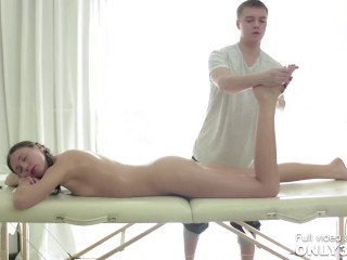 Maddie and Aleksey in Natural Boobs - Cream Pie scene